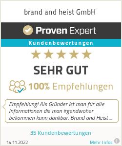 Erfahrungen & Bewertungen zu brand and heist GmbH