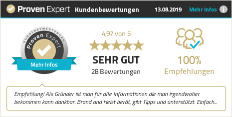 Erfahrungen & Bewertungen zu brand and heist GmbH anzeigen