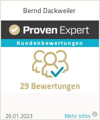 Erfahrungen & Bewertungen zu Bernd Dackweiler