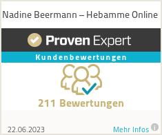 Erfahrungen & Bewertungen zu Nadine Beermann – Hebamme Online