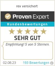 Erfahrungen & Bewertungen zu rex versichert