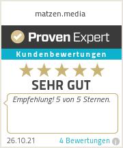 Erfahrungen & Bewertungen zu matzen.media