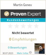 Erfahrungen & Bewertungen zu Martin Gonev