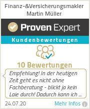 Erfahrungen & Bewertungen zu Finanz-&Versicherungsmakler Martin Müller
