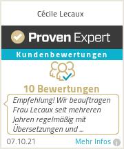 Erfahrungen & Bewertungen zu Cécile
