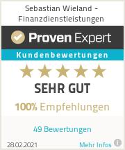 Erfahrungen & Bewertungen zu Sebastian Wieland - Finanzdienstleistungen