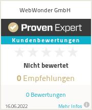 Erfahrungen & Bewertungen zu WebWonder GmbH