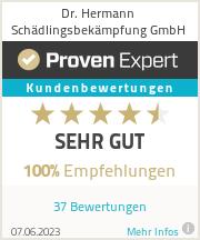 Erfahrungen & Bewertungen zu Dr. Hermann Schädlingsbekämpfung GmbH