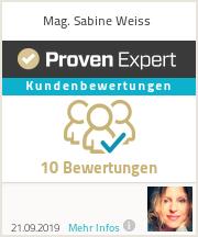 Erfahrungen & Bewertungen zu Mag. Sabine Weiss