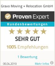 Erfahrungen & Bewertungen zu Gravo Moving + Relocation GmbH