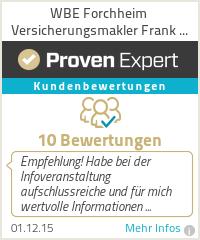 Erfahrungen & Bewertungen zu WBE Forchheim Versicherungsmakler Frank Kohrt