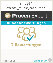 Erfahrungen & Bewertungen zu embyd* events_music_consulting