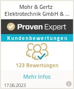 Erfahrungen & Bewertungen zu Mohr & Gertz Elektrotechnik GmbH & Co.KG