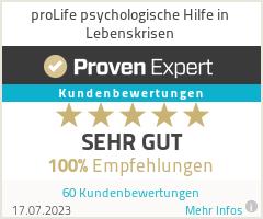 Erfahrungen & Bewertungen zu proLife psychologische Hilfe in Lebenskrisen