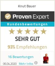 Erfahrungen & Bewertungen zu Knut Bauer