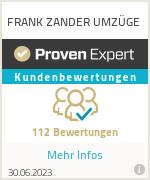 Erfahrungen & Bewertungen zu FRANK ZANDER UMZÜGE