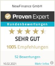 Erfahrungen & Bewertungen zu NewFinance GmbH