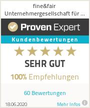 Erfahrungen & Bewertungen zu fine&fair Unternehmergesellschaft für Wirtschaftsberatung (haftungsbeschränkt)
