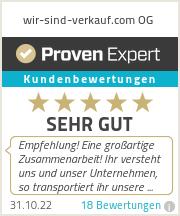 Erfahrungen & Bewertungen zu wir-sind-verkauf.com OG