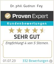 Erfahrungen & Bewertungen zu Dr. phil. Gudrun Fey