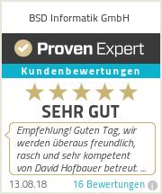 Erfahrungen & Bewertungen zu BSD Informatik GmbH