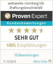 Erfahrungen & Bewertungen zu webworks nürnberg UG (haftungsbeschränkt)