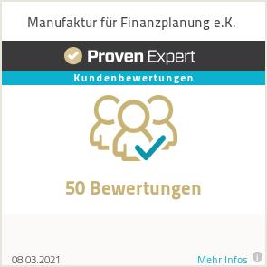Erfahrungen & Bewertungen zu Manufaktur für Finanzplanung e.K.