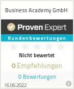 Erfahrungen & Bewertungen zur Business Academy