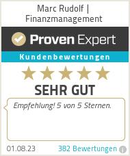 Erfahrungen & Bewertungen zu Marc Rudolf | Finanzmanagement