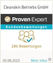 Erfahrungen & Bewertungen zu Cleanskin Betriebs GmbH