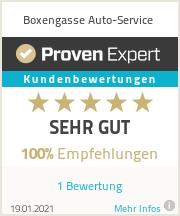 Erfahrungen & Bewertungen zu Boxengasse Auto-Service