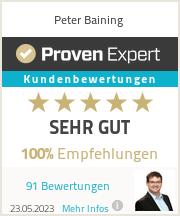 Erfahrungen & Bewertungen zu Peter Baining
