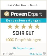 Erfahrungen & Bewertungen zu FairValue Group GmbH