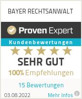 Erfahrungen & Bewertungen zu BAYER RECHTSANWALT