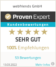 Erfahrungen & Bewertungen zu webfriends GmbH