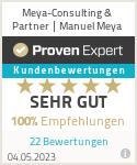 Erfahrungen & Bewertungen zu Unternehmensberatung Manuel Meya | meya-consulting