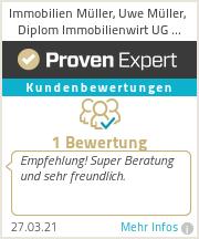 Erfahrungen & Bewertungen zu Immobilien Müller, Uwe Müller, Diplom Immobilienwirt UG (haftungsbeschränkt)