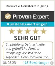 Erfahrungen & Bewertungen zu Borowski Fensterreinigung