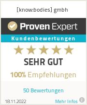 Erfahrungen & Bewertungen zu [know:bodies] gmbh