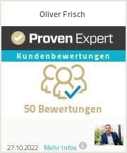 Erfahrungen & Bewertungen zu Oliver Frisch