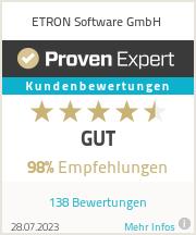 Erfahrungen & Bewertungen zu ETRON Software GmbH