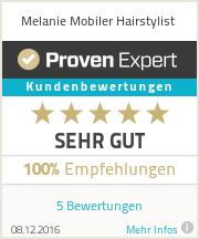 Erfahrungen & Bewertungen zu Melanie Mobiler Hairstylist