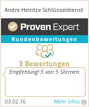 Erfahrungen & Bewertungen zu Andre Heintze Schlüsseldienst
