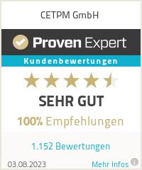 Erfahrungen & Bewertungen zu CETPM GmbH