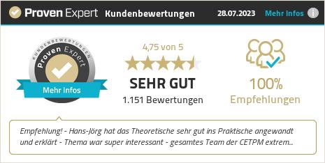 Kundenbewertungen & Erfahrungen zu CETPM GmbH. Mehr Infos anzeigen.