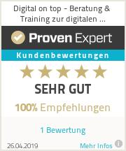 Erfahrungen & Bewertungen zu Digital on top - Beratung & Training zur digitalen Kompetenzentwicklung