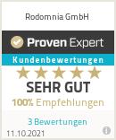 Erfahrungen & Bewertungen zu Rodomnia GmbH