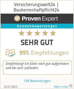 Erfahrungen & Bewertungen zu Versicherungswelt24 | Bauherrenhaftpflicht24