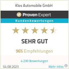 Erfahrungen & Bewertungen zu Klos Automobile GmbH