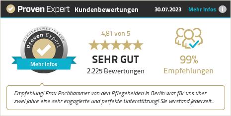 Kundenbewertungen & Erfahrungen zu Pflegehelden Franchise GmbH. Mehr Infos anzeigen.